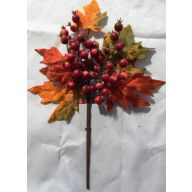 "14"" Maple Leaf Spray w/ Berries"