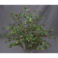 Plastic Hanging Greenery Berry Bush