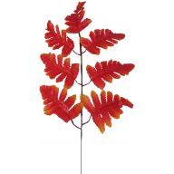 X 7 Silk Leather Leaf pk 12 - Orange