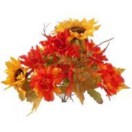 X12 Fall Sunflower Mum - Yellow / Bronze