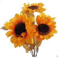 "X 5 Sunflower 6.5 "" Head / Thick Stem 23 """