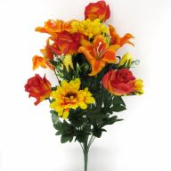 X24 Rose Lily Zinnia Rosebud