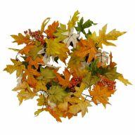 "24"" Maple Leaf Wreath - Yellow Combo"
