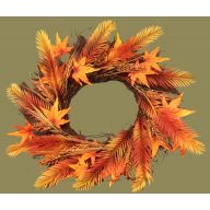 "26 "" Plastic Fall Wreath on Starburst Vine Wreath"