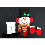 "5 Piece Snowman Kit , 10"" X 11 "" Head , 3.5 "" X 10 "" Snowman , 5""  X 15 "" Leg"