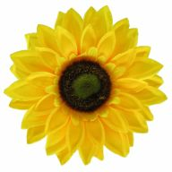 """7"""" Sunflower Head (Sold By Pack Of 12) - Yellow"""