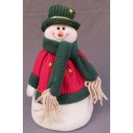 """8 """" Standing Snowman w / Flat Bottom"""