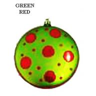 100MM HANGING FLAT BAUBLE