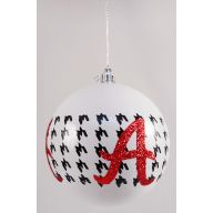 100MM HOUNDSTOOTH BALL - RED/WHITE/BLACK