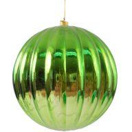 100 mm Metallic Hanging Ribbed Ball