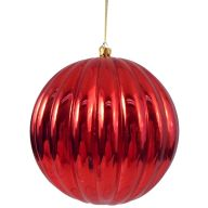 150 mm Metallic Hanging Ribbed Ball