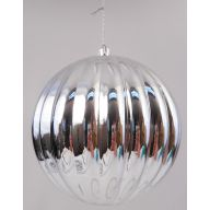 120 mm Metallic Hanging Ribbed Ball
