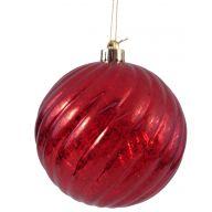 150 mm Transparent Swirl Hanging Ball