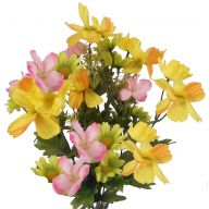X10 Cosmos Daisy Mix - Yellow / Pink / Green