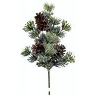 "18 "" Snow Needle Pine Cone Mix Spray (Pk/6)"