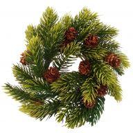 """3"""" Pine Candlering W Cones 6 """" Diameter"""