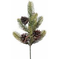 """14 """" Glitter Pine  Spray W Cones"""