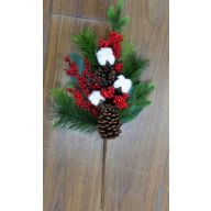 "24"" Berry / Pine / Poly Cotton / Pine Cone Spray"