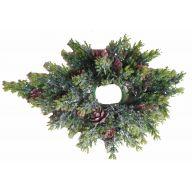 "15 "" Clear Glitter Pine Cone Grass Centerpiece"