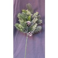 """17 """" Frosted Grass With White Tip Cone , Pine Spray ( Sold In Pack Of 6 ) - Frosted Green"""