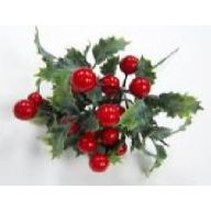 "8 "" Large Berry Holly Pick - Red"