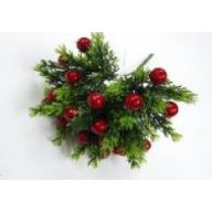 "11 "" Plastic Greenery w / Red Berries"