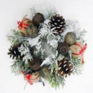 """10"""" Candlering w/ Nuts Pine Cones"""