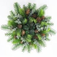 "13"" Fir Wreath w/ Pine Cones"