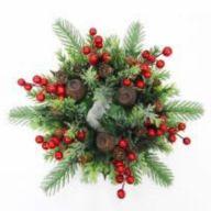 """14"""" Fir Wreath w/ Berries Pine Cones"""
