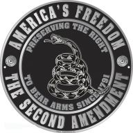 """12"""" SECOND AMENDMENT CIRCLE SIGN - RIGHT TO BEAR ARMS"""