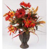 "20.5 ""  Aster Daisy Mum Foxtail Mixed In Pot - Rust / Orange"