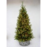 """9' Med Tree PVC Pine 1778 Tips, MTL Tree Skirt, 450 Lights, 54""""Dia"""