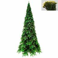 "6.5' Medium Austen Fir Tree 896 Tips, 400 Warm White LED Concave Lights, 39""Dia"