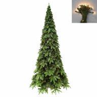 """7.5' Medium Austen Fir Tree 1,236 Tips, 450 Clear Lights, 47""""Dia"""