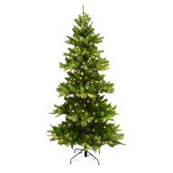 "7.5 ' Medium Star Fir Tree X1015 Tips 400 LED Lights 48 "" Dia"