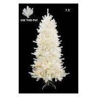 7.5 ' Lighted Medium Tree Shiny White Pine Hinge