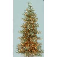 "7.5' SUGAR & SPICE LIGHTED PINE TREE 980 TIPS, 550 LIGHTS, 52"" DIAMETER"