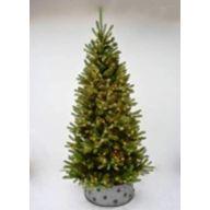 """7.5' Lighted Med Mixed Pine 1088 Tips, MTL Tree Skirt, 400 Lights, 45""""Dia"""