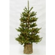"""4.5' Entrance Tree Canterbury Spruce in Magnesium Pot 281 Tips 120 Lights 33"""" DIA"""