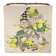 """10"""" X 10"""" MDF Lemon Tiered Tray Sign w/ Rope"""