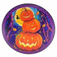 """12"""" Round MDF Stacked Pumpkin Halloween Sign"""