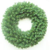"""30"""" CANADIAN PINE WREATH 280 TIPS DOUBLE RING"""