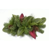 "24"" Southern Mix Magnolia Leaves Pinecones Doorswag 50 Tips"