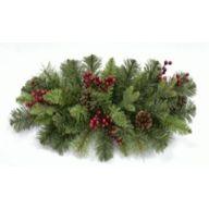 """24"""" Grizzly Pine Doorswag w/ Berries & Cones 50 Tips"""
