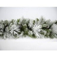 "9' x 12"" Frosted Holiday Pine Garland w/ Pinecones 210 Tips"