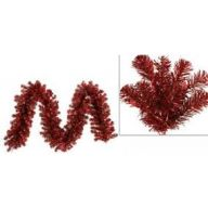 9 x 12 Tinsel Pine Garland 240 Tips - Metallic Red