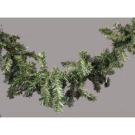"9 ' x 12 "" Lighted Canadian Pine Garland 180 Tips w / Header 50 Lights"