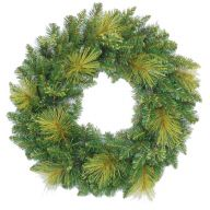 """24"""" ELEVATED GEORGIA PINE WREATH DOUBLE RING 160 TIPS"""