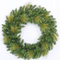 "30"" ELEVATED GEORGIA PINE WREATH DOUBLE RING w/ 200 TIPS"