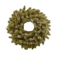"""24 """" Elevated Natural Brown PVC Wreath Double Ring 160 Tips"""